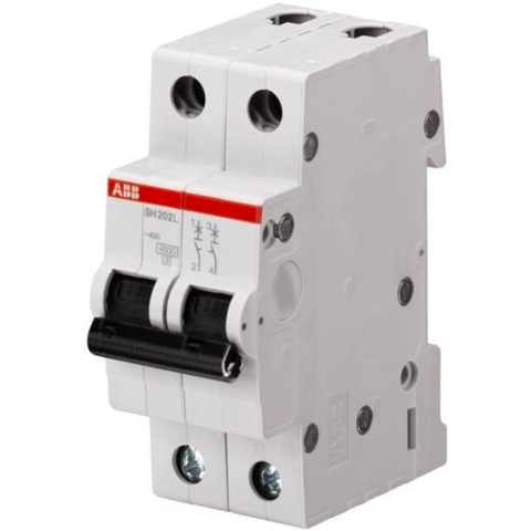 Автоматический выключатель 2-полюсный  25 A, тип B, 6 кА SH202 B 25. ABB. 2CDS212001R0255