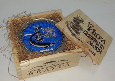 Икра зернистая осетра в подарочной упаковке  500 гр ж/б