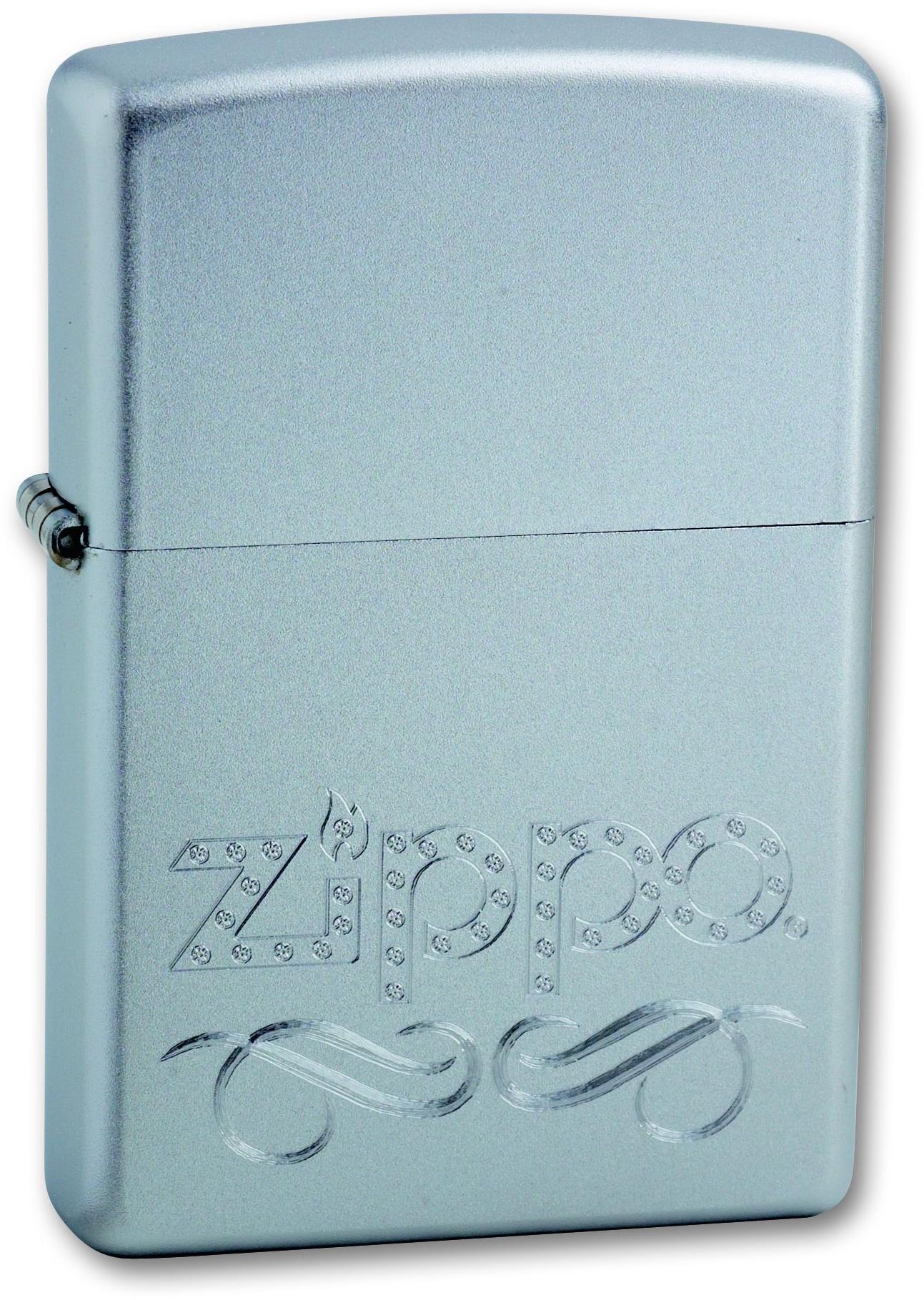 Зажигалка ZIPPO Classic Satin Chrome™  гравировка логотипа Zippo ZP-24335