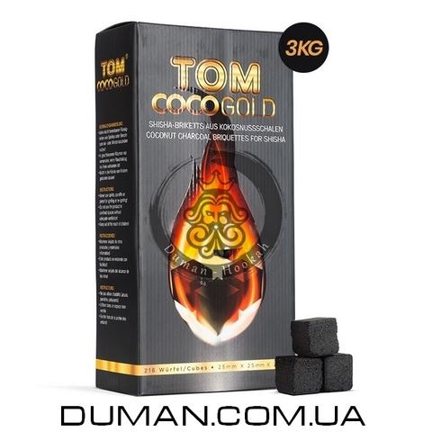 Натуральный кокосовый уголь для кальяна Tom Cococha Gold (Том Кокоча) |3кг 216 куб 25*25мм