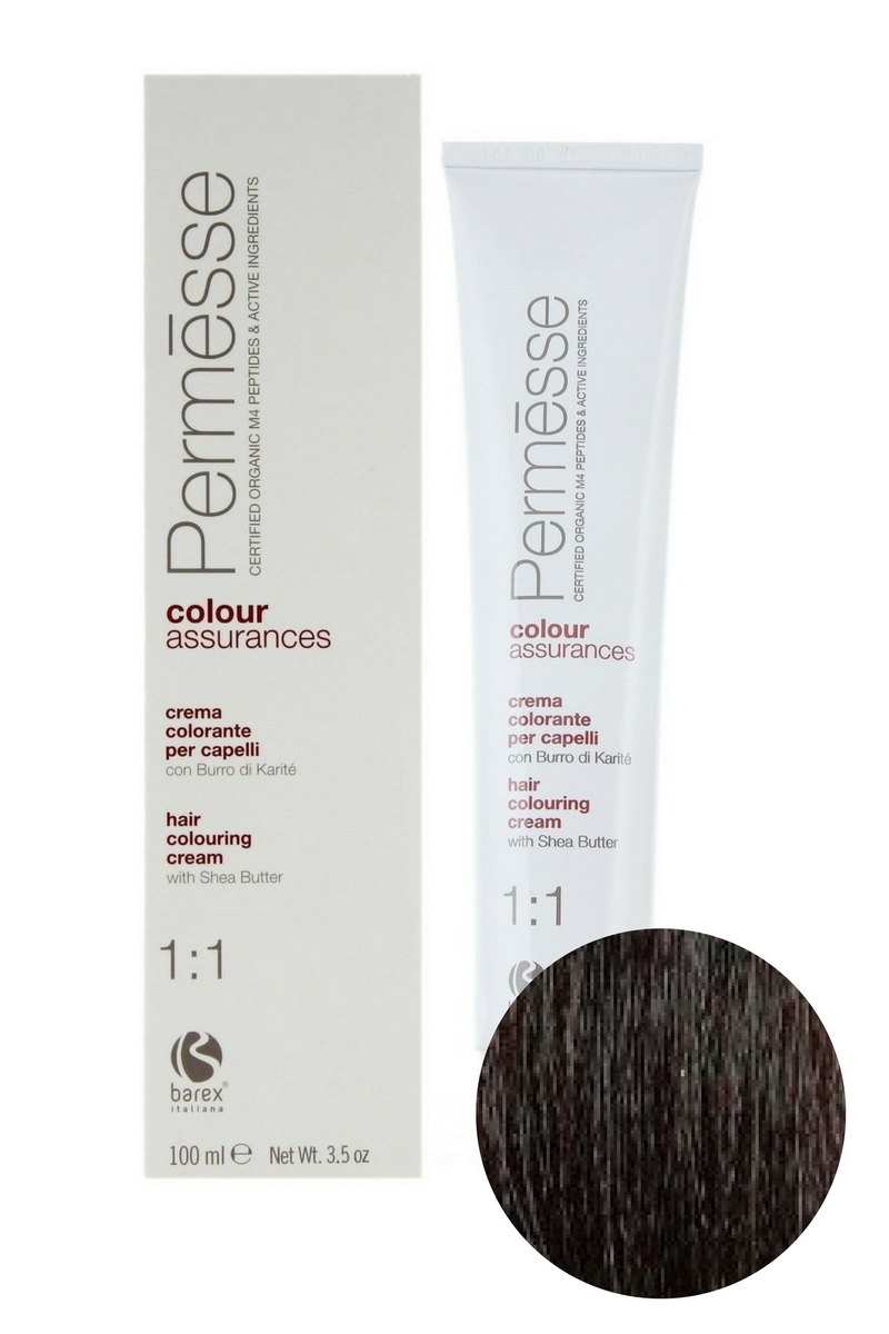 Крем-краска для волос 5.003 Светлый каштан теплый Permesse, Barex