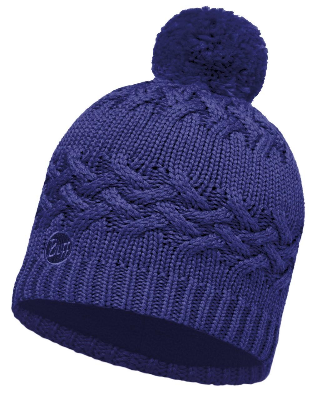 Шапки крупной вязки Вязаная шапка с флисовой подкладкой Buff Savva Mazarine Blue 111005.716.10.00.jpg