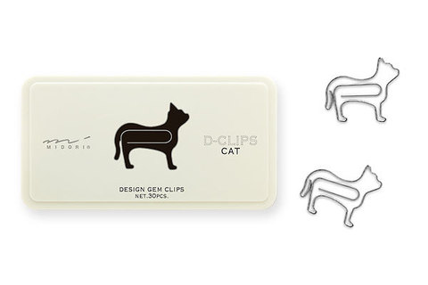 Скрепки Midori D-Clips Cat (30 шт.)