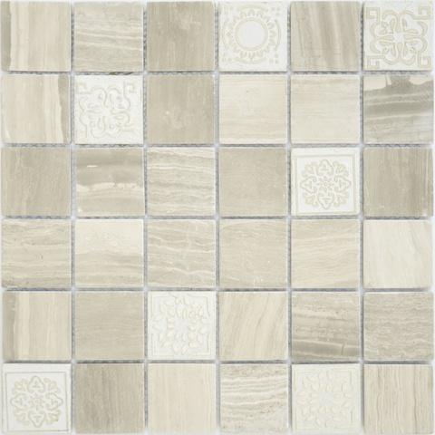 Мозаика Art Travertino Silver MAT 300х300