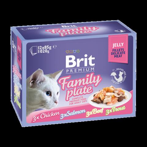 Brit Premium Cat Набор паучей для кошек в желе Семейная тарелка