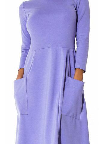 Платье миди цвета сирени 2
