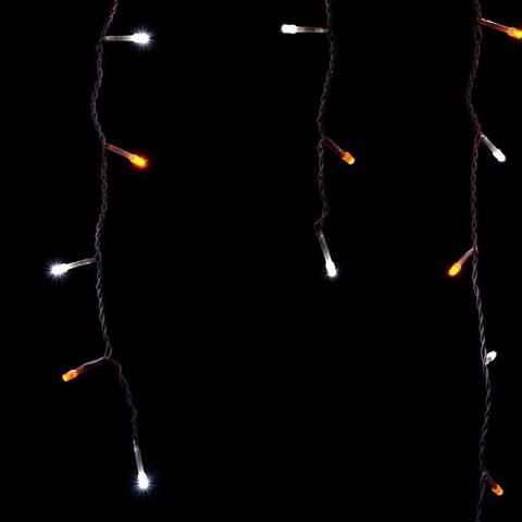 Светодиодная новогодняя LED сталактиты гирлянда бахрома занавес