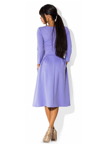 Платье миди цвета сирени 1