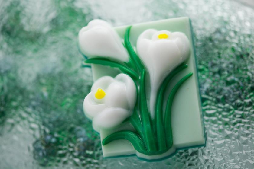 Мыло с крокусами. Пластиковая форма