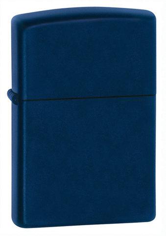 Зажигалка Zippo Navy Matte с покрытием Navy Matte, латунь/сталь, синяя, матовая, 36x12x56 мм
