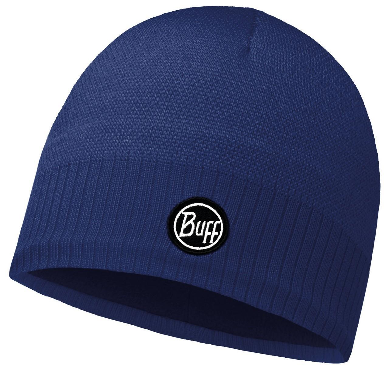 Шапки средней вязки Вязаная шапка с флисовой подкладкой Buff Taos Blue Ink 113340.752.10.00.jpg