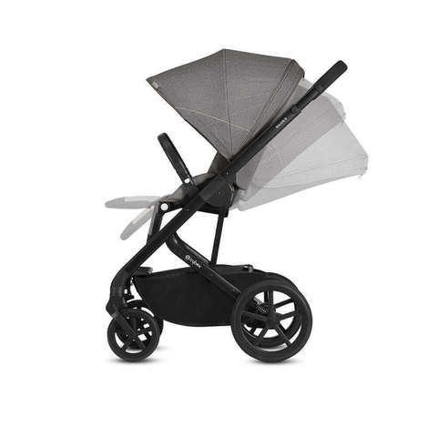 Прогулочная коляска Cybex Balios S Lavastone Black + дождевик