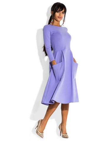 Платье миди цвета сирени