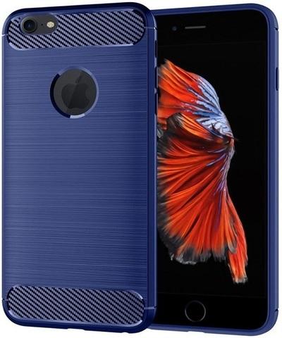 Чехол iPhone 6 Plus (iPhone 6S Plus) цвет Blue (синий), серия Carbon, Caseport