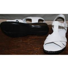Женские сандалии из натуральной кожи Evromoda 15 White.