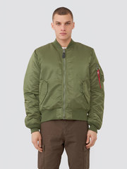 Бомбер Alpha Industries MA-1 Slim Fit Sage Green (Зеленый/Оранжевый)