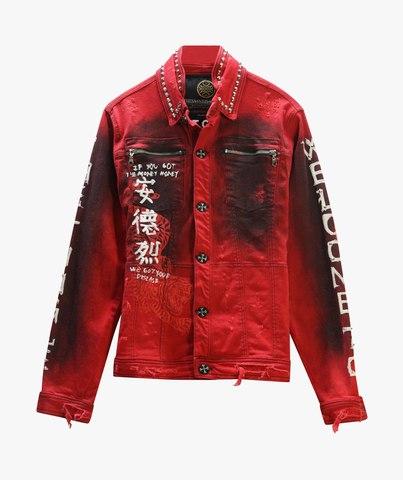 Куртка джинсовая The Saints Sinphony TIGER PATCH RED JACKET