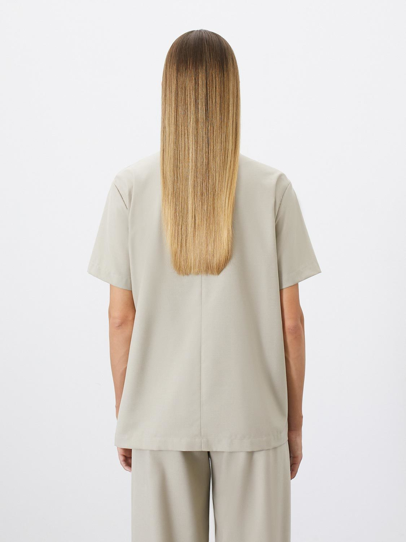 Блуза Sia с завязками, Песочный