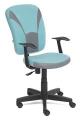 Кресло компьютерное Остин (Ostin) — серый/бирюзовый (Мираж грей/TW-23)