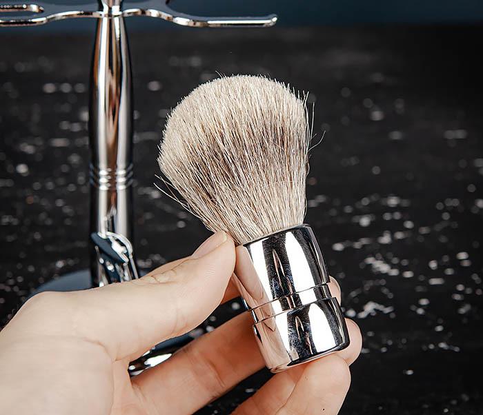 RAZ484 Подарочный набор для бритья: подставка, станок и помазок фото 09