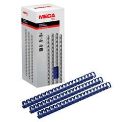 Пружины для переплета пластиковые Promega office 22 мм синие (50 штук в упаковке)
