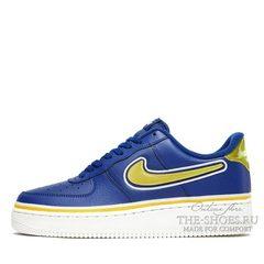 Кроссовки мужские Nike Air Force 1 Low '07 LV8 NBA Team Blue Yellow