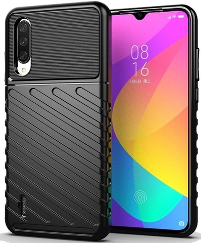 Чехол Xiaomi Mi 9 Lite (A3 Lite, CC9) цвет Black (черный), серия Onyx, Caseport