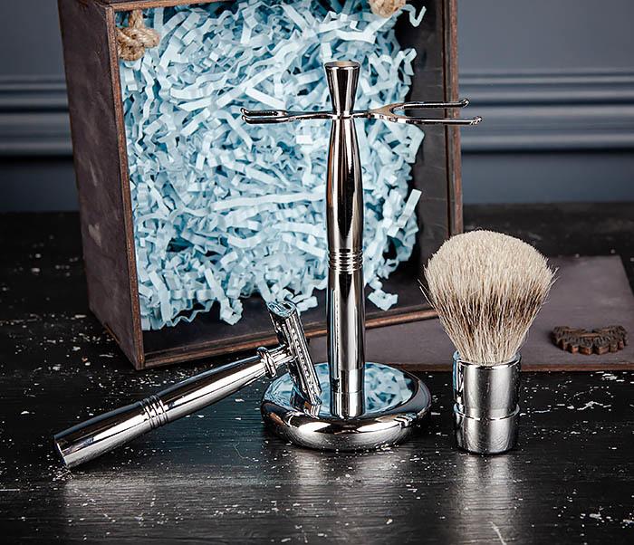 RAZ484 Подарочный набор для бритья: подставка, станок и помазок фото 12