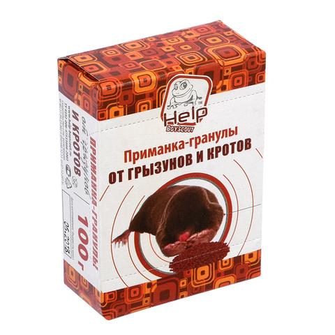 Приманка-гранулы для уничтожения кротов коробка 100 г