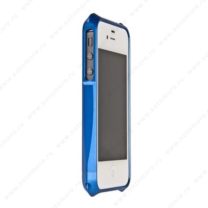 Бампер Deff CLEAVE 2 алюминиевый для iPhone 4s/ 4 синий