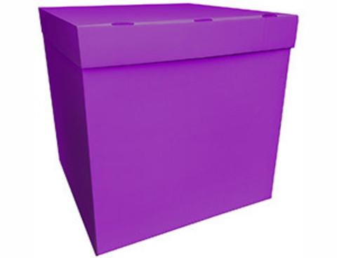 Коробка для шаров с персональным оформлением фуксия