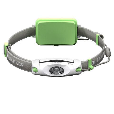 Фонарь светодиодный налобный LED Lenser NEO6R зеленый, 240 лм., аккумулятор