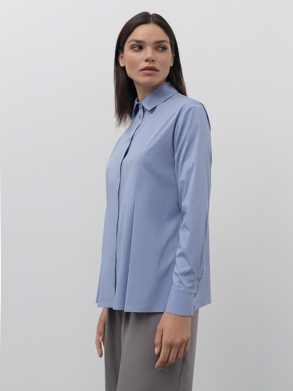 Рубашка Jasmine со встречными складками, Голубой