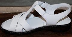 Красивые женские сандалии Evromoda 15 White.