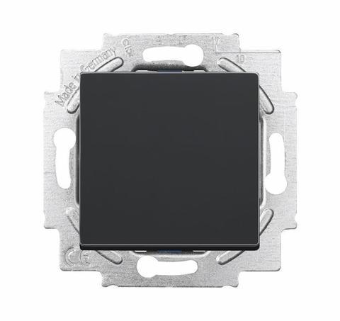Выключатель/переключатель одноклавишный, промежуточный(перекрёстный). Цвет Антрацит. ABB (АББ). Dynasty/Solo/Future/Axcen/Carat/Pure. 1012-0-2130+1751-0-3079
