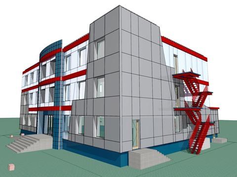 Проектирование навесной фасадной системы АЛПАН