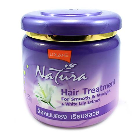 Маска для гладких и прямых волос Lolane Natura White Lily Extract с экстрактом белой лилии, 250 мл