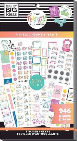 Блокнот со стикерами для ежедневника Create 365 Happy Planner Sticker Value Pack-BIG - fitness, 946 шт