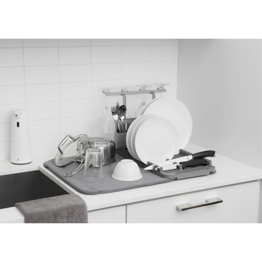 Коврик для сушки посуды udry тёмно-серый Umbra 1011484-149 | Купить в Москве, СПб и с доставкой по всей России | Интернет магазин www.Kitchen-Devices.ru