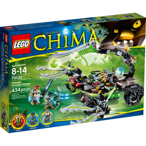 LEGO Chima: Жалящая машина скорпиона Скорма 70132 — Scorm's Scorpion Stinger — Лего Чима