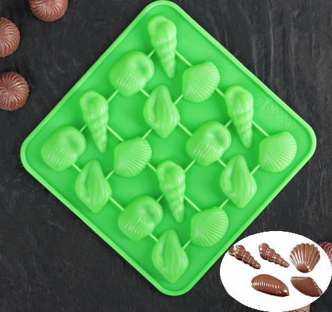 Форма для льда и шоколада «Ракушки», 17,3×17,3 см
