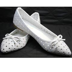 Летние балетки белые Vasari Gloria 19Y38860-37 White