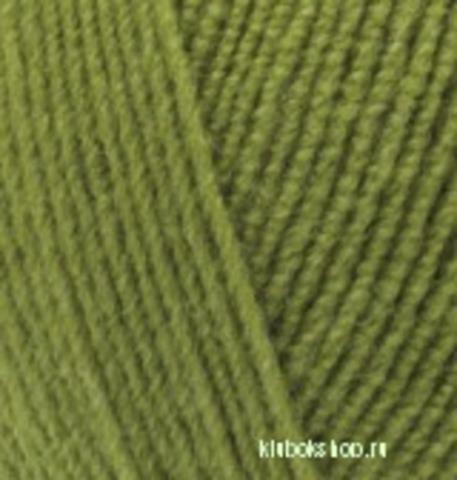 Пряжа Lanagold FINE (Alize) 485 Зеленая черепаха, фото