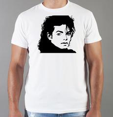 Футболка с принтом Майкл Джексон (Michael Jackson) белая 001