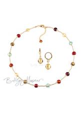Комплект Carnavale Oro Piccolo (золотистые серьги Piccolo, ожерелье)