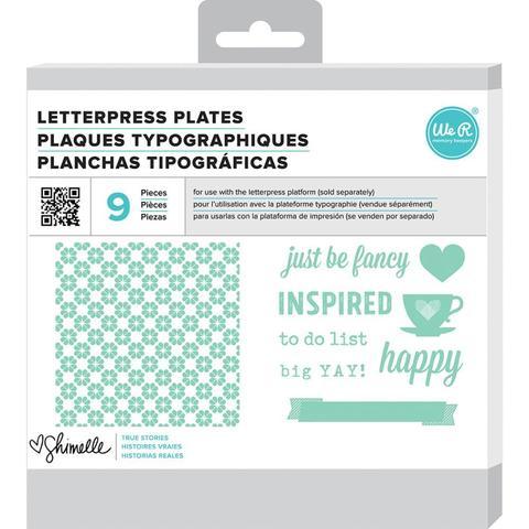 Формы для леттерпрессинга Lifestyle Letterpress Plates - Shimelle True Stories