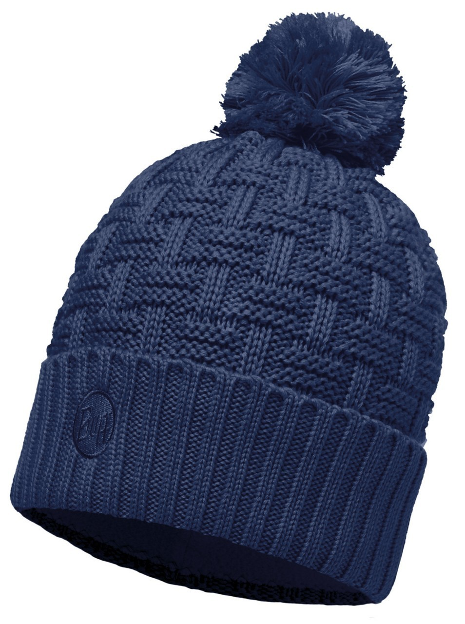 Шапки с отворотом Вязаная шапка с флисовой подкладкой Buff Airon Dark Denim 111021.766.10.00.jpg