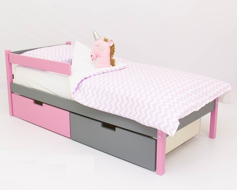 Кровать SKOGEN лаванда-графит
