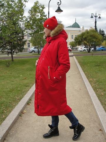 Парка зимняя 2 в 1 цвет красный