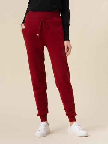 Женские брюки красного цвета из 100% кашемира - фото 4